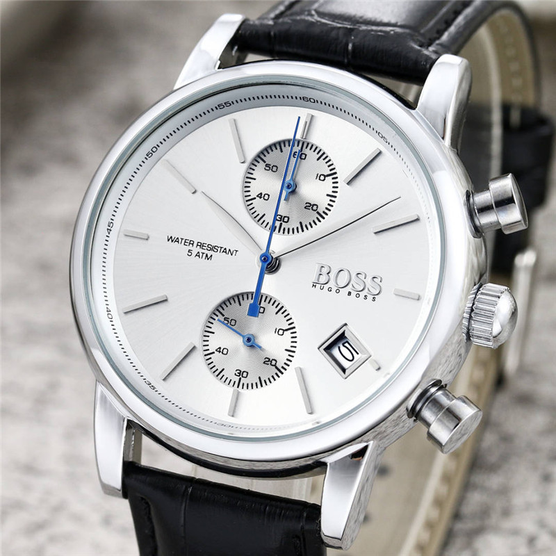 BOSS Watch Men Fashion Business Quartz Clock Mens Watches Top Brand Luxury with Leather WristwatchesBOSS Watch Men Fashion Business Quartz Clock Mens Watches Top Brand Luxury with Leather Wristwatches