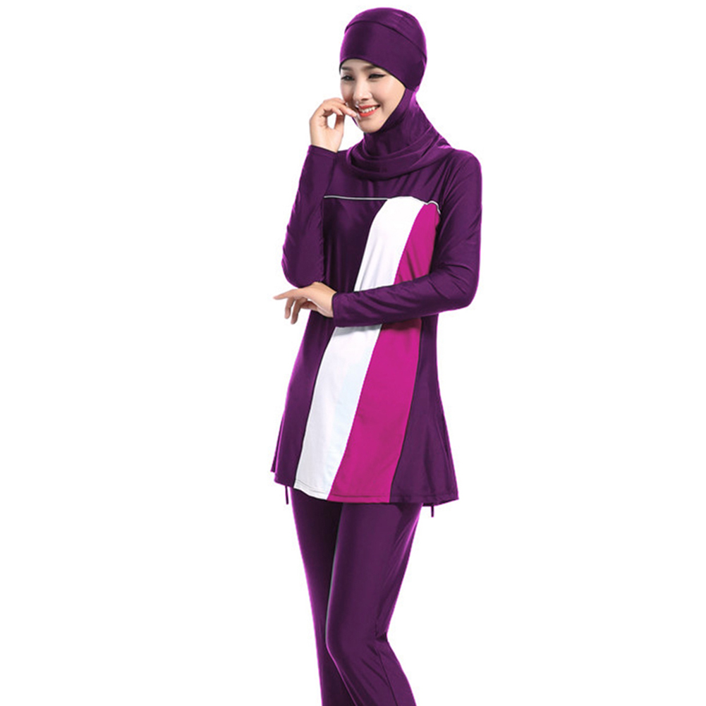 Muslim Women Hijab Full Cover Conservative Swimsuit Beach Swimwear