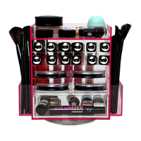 Acrylic Makeup Box 360 Rotating Box Multifunction Cosmetic Organizer with Drawer Makeup Artist Tool Storage Case