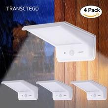 4PCS Led Garden Solar Light Motion Sensor PIR Lamp Panels Outdoor Waterproof Powered Wall Lamps Street Lights 20 LED