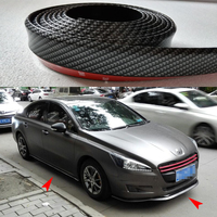 100X Universal PU Carbon Fiber Front Lip Splitter Chin Spoiler Side Skirt Body Kit Trim 2