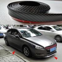 100Pcs PU Carbon Fiber Front lip Side Skirt Body Kit Strip Trim 2.5 Meters for Audi BMW Volkswagen Benz