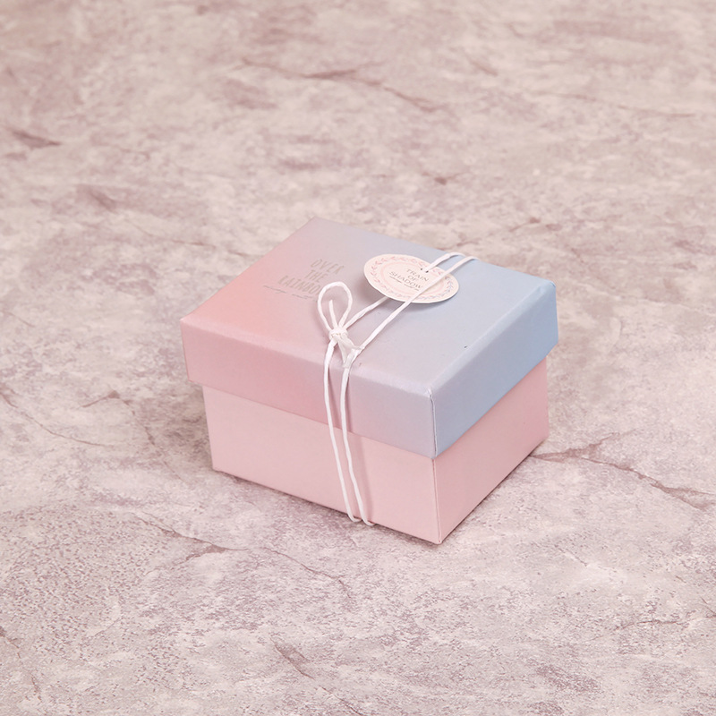 5 Pack/Lot Kraft Paper Gift Boxes Square Candy Box for Unicorn Party Birthday Candy Birthday Party Supplies Gift Packaging