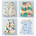 New 2017 Brand Quality 100% Cotton Baby Girls Dress Summer Children's Clothing Kids Clothes Baby Short Sleeve Casual Dress Girls