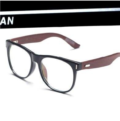 6a3d6b737 Hombres y mujeres coreanos retro gafas grandes gafas de marco gafas de marco  de madera marea espejo llano gafas para hombre y marea mujeres en De los ...