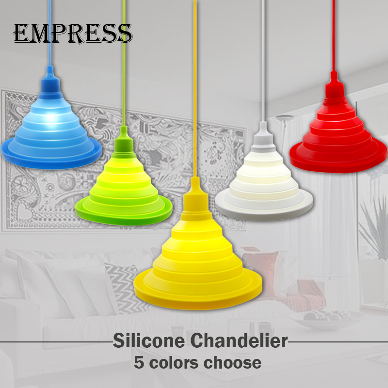 Modern lamp cover pendant lights Lampshade bedroom Colorful Silicone LED lamp shade home lighting children room Restaurant lamp