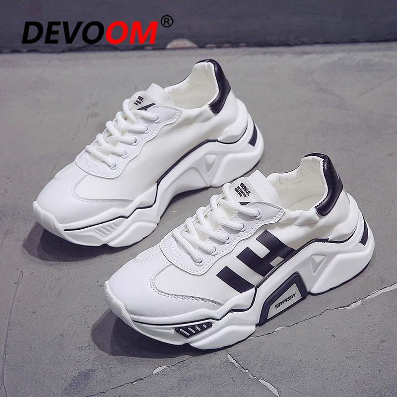 New Running Shoes Women White Platform Sport Shoes Ladies Chunky Sneakers Women Trainers Basket Femme zapatillas mujer deportiva