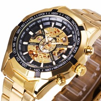Forsining Men Watches Top Brand Luxury Golden Men Mechanical Skeleton Wristwatch Men Sport Watch Design Fashion
