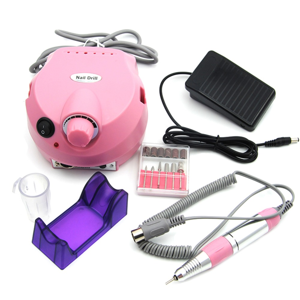 30000RPM Nail Drill Machine Electric Machine For Manicure Nail File Drill Manicure Pedicure Kit Nail Art Equipment Nail Art Tool apparatus for manicure nail art drill machine for manicure kit drill file bit sanding accessory 9 heads pedicure machine