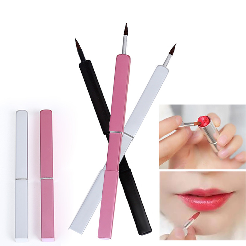Retractable Lip Brushes Professional Makeup Brush Portable Make Up for Gross Stick