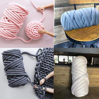 Core Cotton Hand Woven Blanket Line Super Coarse Cloth Line Machine Coarse Knitting Fabric Hand Knitted Wool Core Washable