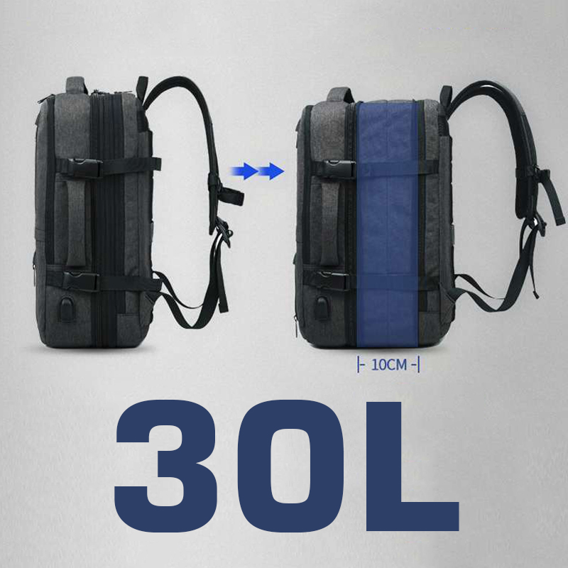 30L 17 ''Laptop Mochila Saco de Viagem Das Mulheres Dos Homens À Prova D' Água Ao Ar Livre Grande Bagpack Anti roubo Ao Ar Livre Feminino Masculino 15.6 de Volta embalagem