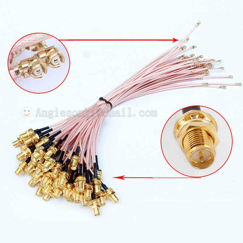 2x高品質ミニpci u. fl/ipx ipexにrp-smaアンテナwifiピグテールケーブル20センチ2.4 ghz用ミニpciカードまたは無線ルータ