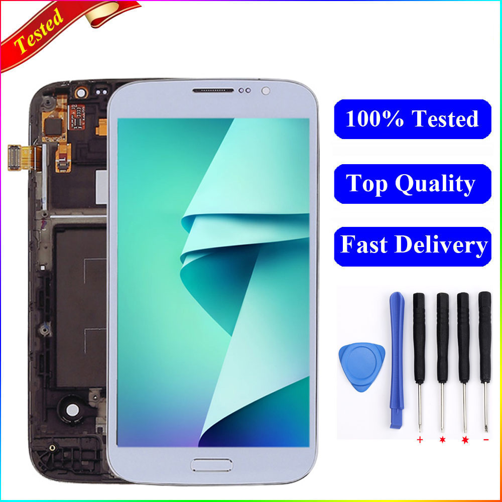 For Samsung Mega 5.8 LCD i9150 i9152 LCD Display Touch Screen Digitizer with Frame Assembly For SAMSUNG mega 5.8 Display