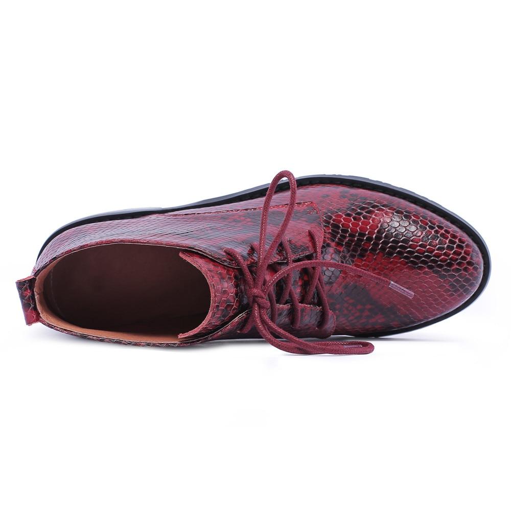 Mstacchi 여성 발목 부츠 정품 가죽 뱀 줄무늬 가을 겨울 여성 부츠 여성 첼시 부츠 mied 색상 여성 신발-에서앵클 부츠부터 신발 의  그룹 2