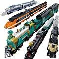 MOC совместим с legoinglys City Train Station Track Rail лего technic creator строительные блоки кирпичи DIY Tech игрушки для детей