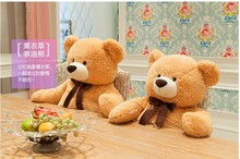 big lovely bear toy plushed toy cute bow stuffed teddy bear birthday gift about 100cm yellow brown