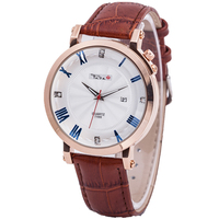 Top Luxury Brand TADA Genuine Leather Strap Men's Cool Watches Fashion Relojs Japan Movement Watches Date Displaying watches