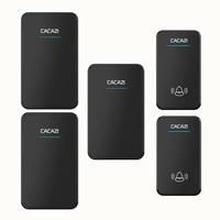 CACAZI 2 waterproof buttons+3 receivers AC 100-220V wireless doorbell EU US UK plug door ring 48 ringtones 6 volume door chime