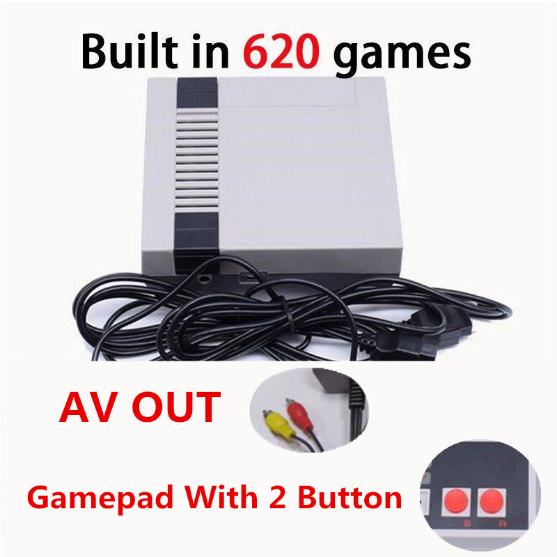 EastVita upgrade mini Retro Video Game Console Built-in 620 Games 8 Bit PAL&NTSC Family TV handheld game player Double Gamepads