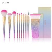 Docolor New 11 PCS Fantasy Makeup Brushes Kit Foundation Brush Eyeshadow Brush Cosmetics Tool Set Synthetic