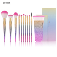 Docolor New 11 PCS Fantasy Makeup Brushes Kit Foundation Brush Eyeshadow Brush Cosmetics Tool Set Synthetic