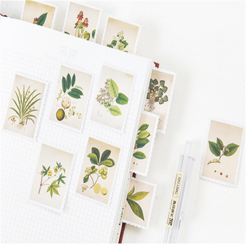 20packs/lot Vintage Plants mini paper sticker package DIY diary decoration Adhesive sticker scrapbooking 20packs lot forest animal festival mini paper sticker decoration diy ablum diary scrapbooking label sticker 45 pieces into