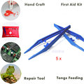 5 Pcs/Set Plastic Tweezers Tool For First Aid Kit,Emergency Kit,Kids DIY Handicraft,Repair Maintenance And Tongs Feeding