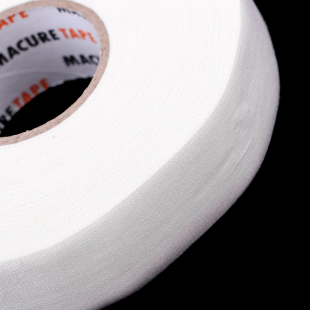 1 Roll of Durable 1′ X 25 Yards Cloth Hockey Stick Tape Waterproof Adhesive Pro Quality Ice Hockey Accessories Black/White