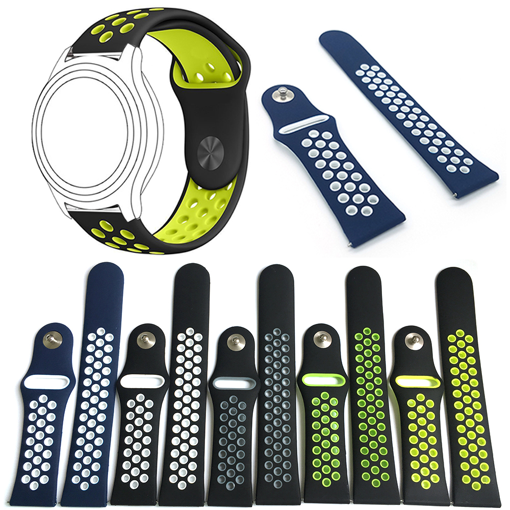 22mm Band for samsung galaxy gear S3 Frontier Replaceable Bracelet Strap for Samsung S3 Classic Breathable Sport silicone bands crested sport silicone strap for samsung gear s3 classic frontier replacement rubber band watch strap for samsung gear s3