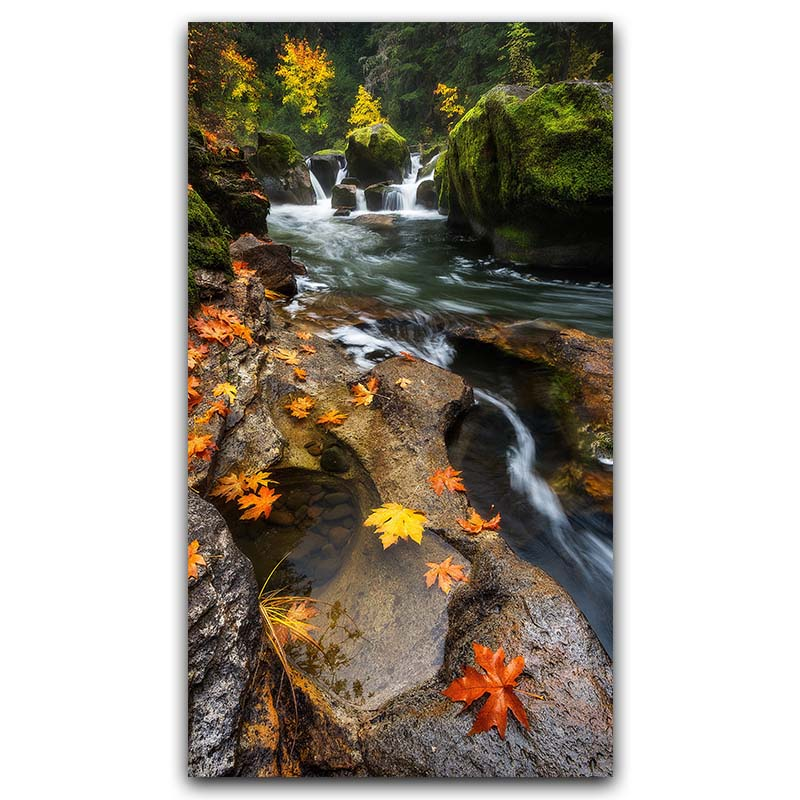 Silk Poster Picture Waterfall Landscape Living-Room Home-Decoration Wallpaper
