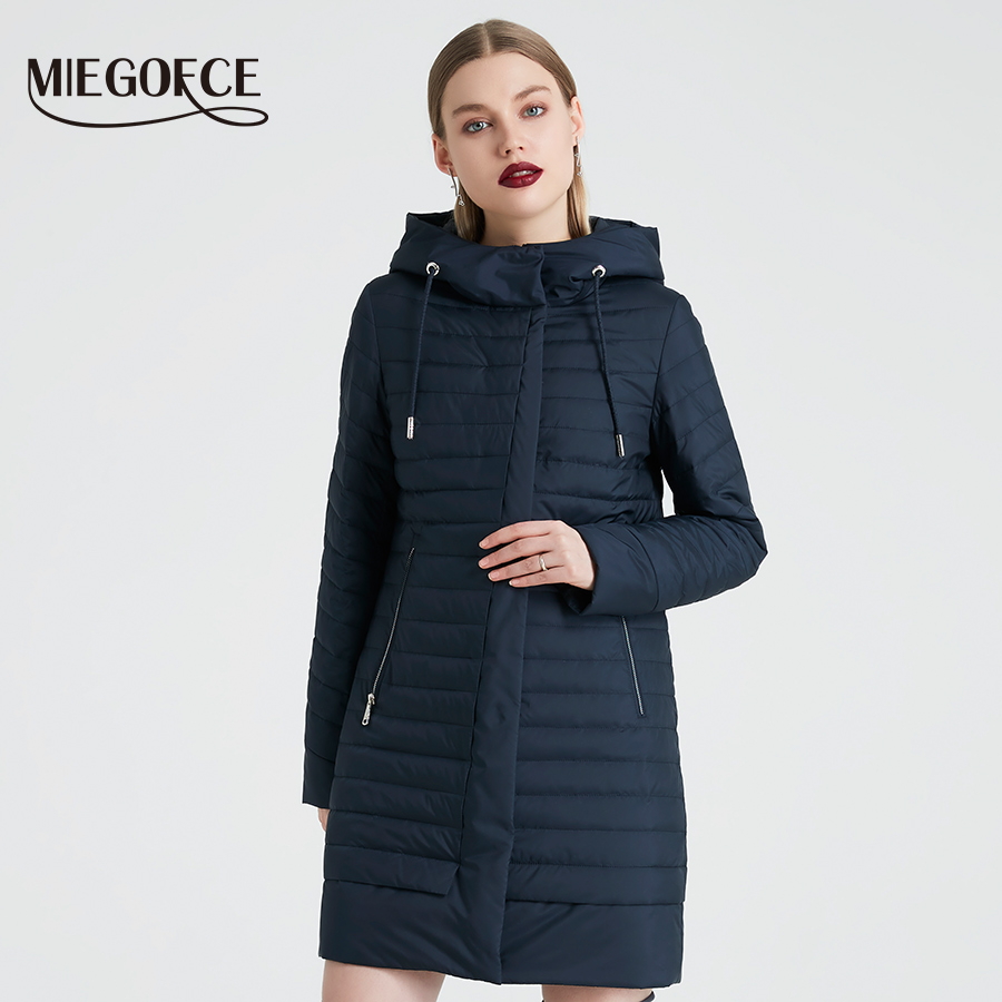MIEGOFCE 2019 Spring Windproof Coat Quilted Parka Warm Women s Jacket Stand Collar Women s Thin