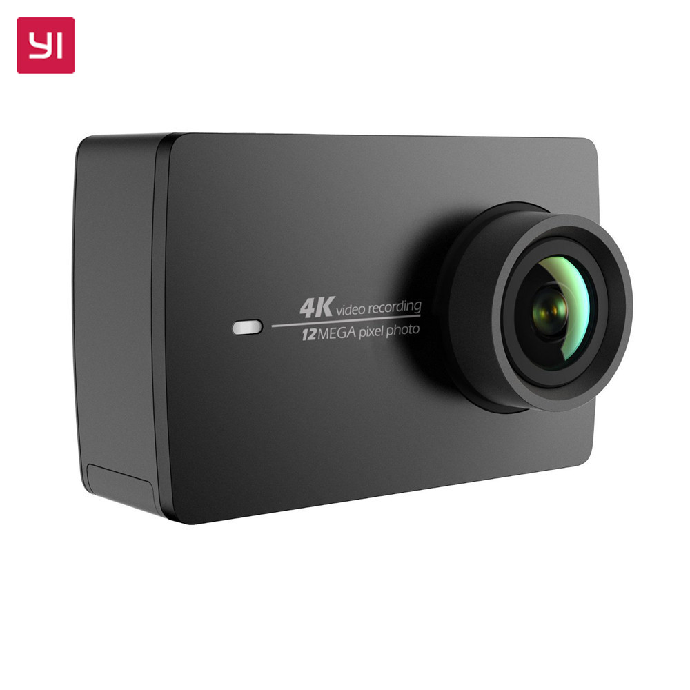 YI 4K Action Camera Black 2.19LCD Screen 155 Degree EIS Wifi International Edition Ambarella A9SE75 12MP CMOS 5GHz Wi-Fi [hk stock][official international version] xiaoyi yi 3 axis handheld gimbal stabilizer yi 4k action camera kit ambarella a9se75 sony imx377 12mp 155‎ degree 1400mah eis ldc sport camera black