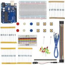 Für UNO R3 Breadboard USB Kabel LED LDR Widerstand 40 Pin Header Batterie Dupont Kabel Halter für UNO R3 für arduino