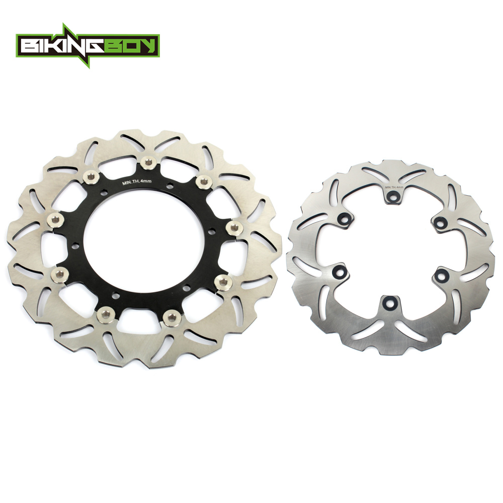 BIKINGBOY For Yamaha XT 660 R XT660R 04 05 06 07 08 09 10 12 13 14 Front Rear Brake Discs Disks Rotors Wave Set 300mm 245mm front rear brake discs rotors for yamaha xj 600 n yzf r 600 1000 thundercat thunderace 96 04 xtz 660 tenere tdm 900 yzf r1 98 01
