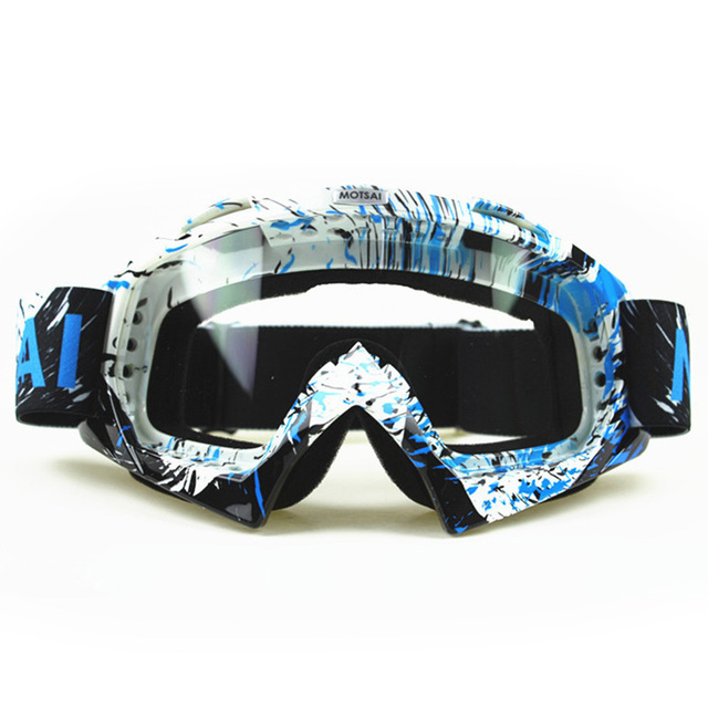1800eb051f4 MOTSAI Motocross Goggles Cross Country Skis Snowboard ATV Mask Oculos Gafas  Motocross Motorcycle Helmet MX Goggles Glasses