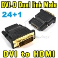 2015 Hot Sell 1080P DVI 24+1 Male To HDMI Female Adapter Converter V1.4 DVI-D Dual Link For Xbox360/One For PS3 For PS4 HDTV