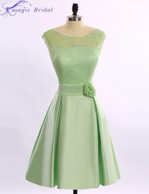 Short Lace Bridesmaid Dress Cheap Mint Green Bridesmaid Dresses Brides Maid Dresses  2016 Robe Demoiselle d honneur 8cc914c01a11