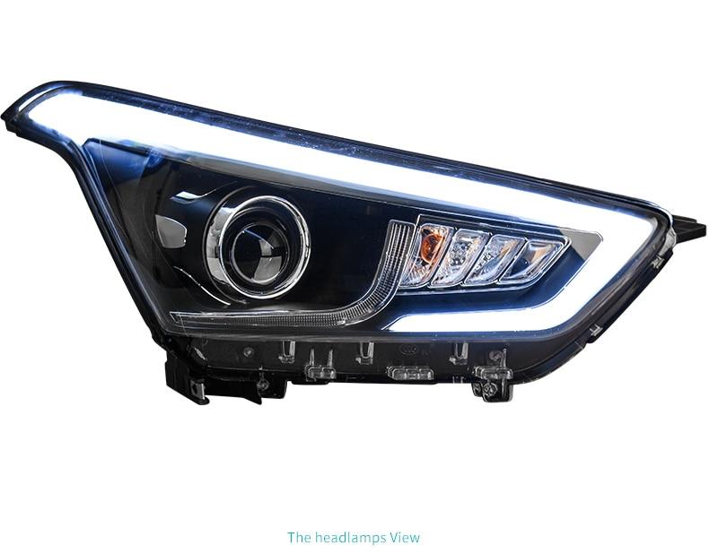 Car headlightHead Lamp case for Hyundai Creta Headlights 2015 2016 IX25 LED Headlight DRL H7 D2H Hid Option Angel Eye Bi Xenon-in Car Light Assembly from Automobiles & Motorcycles    2
