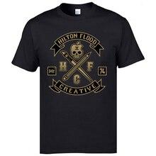 Create Design Skull Tops T Shirt 3D Tees For Men Black Rock Geek Tshirts HFC74 Hilton Flood Creative Mens Cool T-Shirts