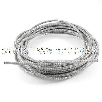 PVC Coated Hoisting Lifting 10m x 5mm Stainless Steel Flexible Wire Cable