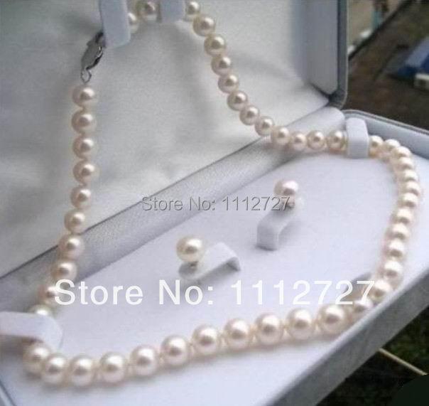 f2d84bd56324 Nueva Natural granos bastante 8-9mm collar de perlas de Tahití negro 17 ''+  pendientes DIY joyería ...
