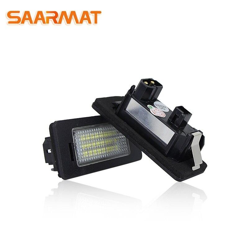Número de Luzes Da Placa de Licença lâmpada LED CANBUS Sem Erro Para BMW Série 5 E39, E60, E60N, e61, E61 X Série E70, E71 AUTO Lâmpada Branca @ 12 v