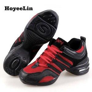 Image 5 - HoYeeLin Mesh caz ayakkabı kadın bayanlar Modern yumuşak taban dans Sneakers nefes hafif dans spor ayakkabı