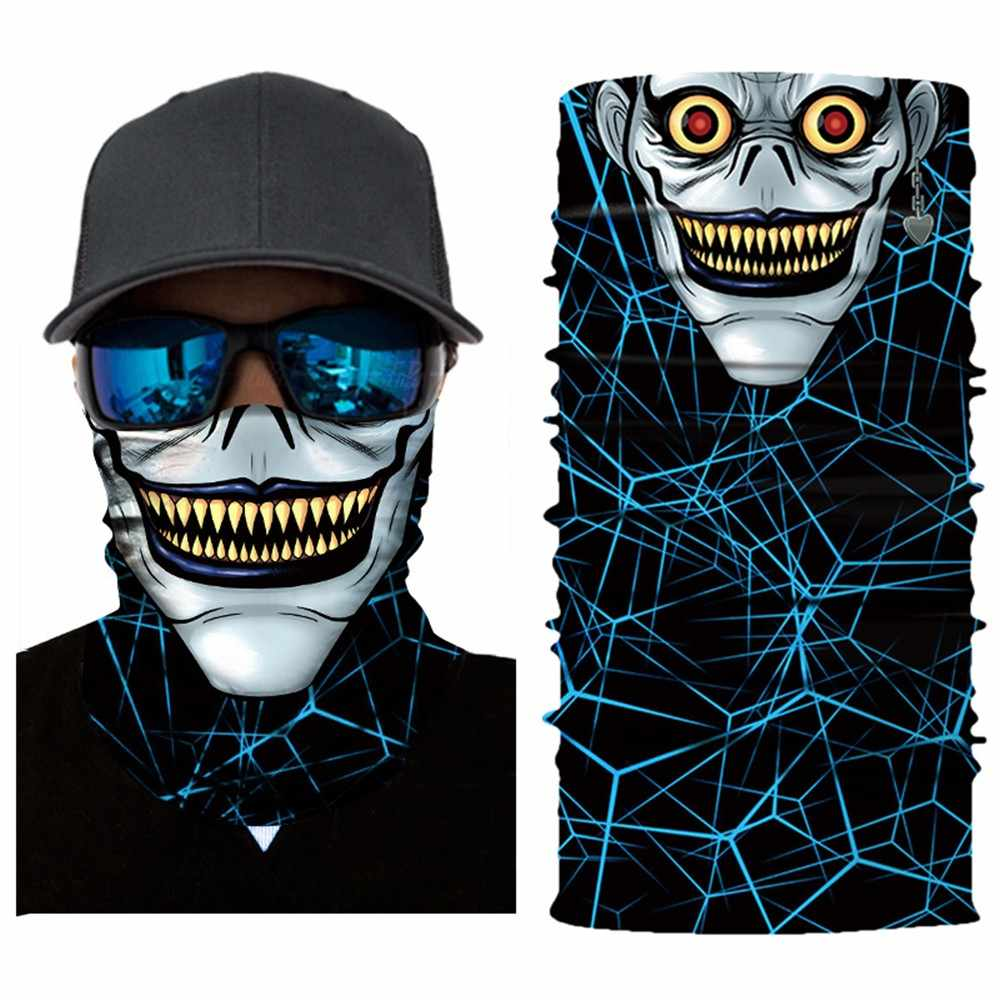 3D Iron Man Batman Skeleton Seamless Magic Neck Cycling Motorcycle Head Warmer Face Mask Ski Balaclava Headband Tube Scarf #30