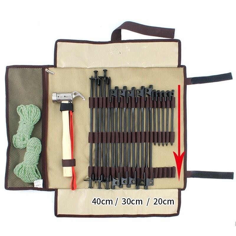 Outdoor Camping Nails Bag Kit Camp Nails Packet Storage Bag Backpack Tent Nail Hammer Portable Storage Bag New