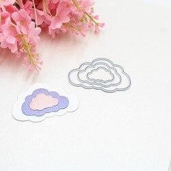 3 sztuk chmury Album na zdjęcia DIY do scrapbookingu ręcznie robione kartki słodkie tłoczenie metalu wykrojniki szablony Scrapbooking