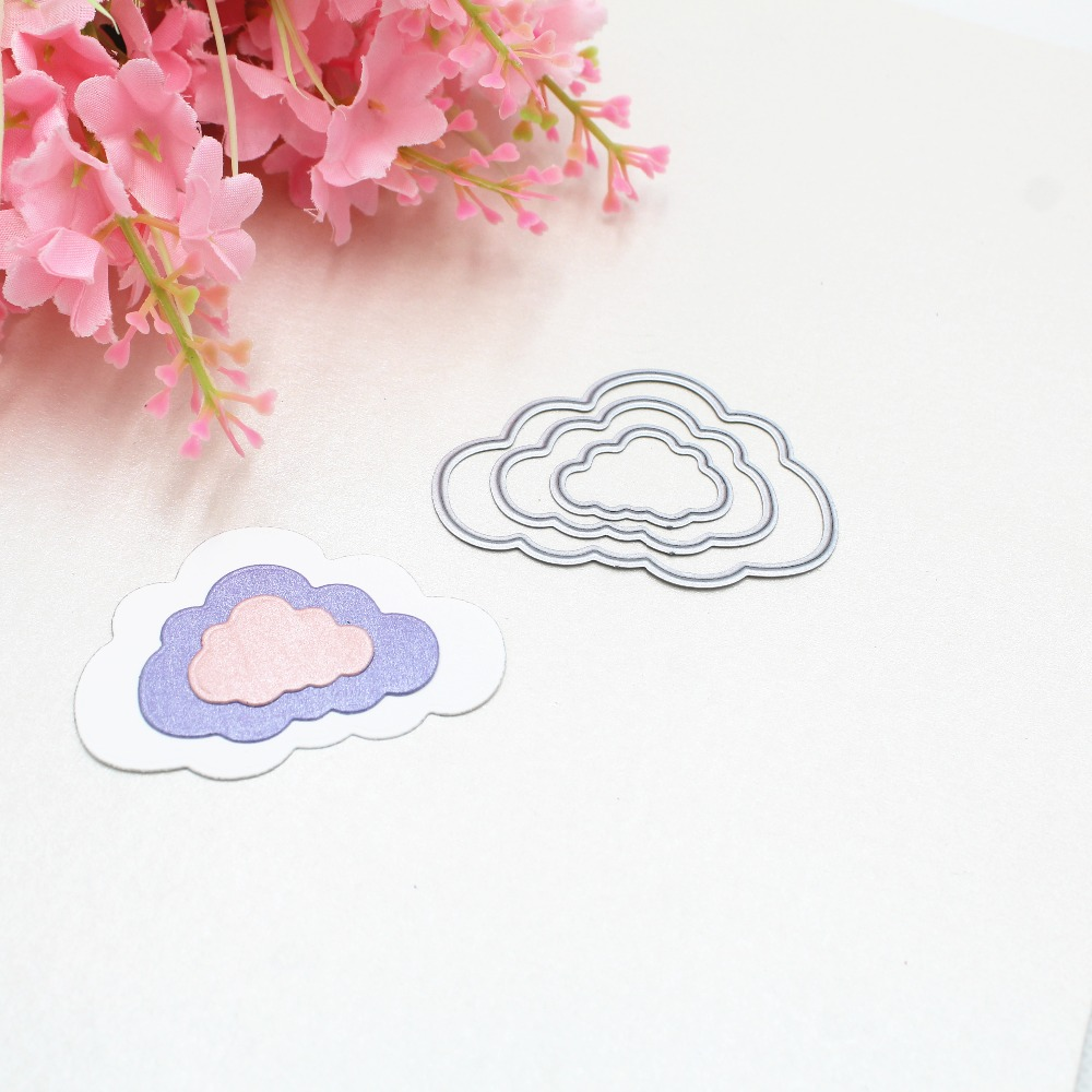 3Pcs Clouds DIY Scrapbooking Photo Album Paper Card Craft Cute Embossing Metal Cutting Dies Stencils Scrapbooking