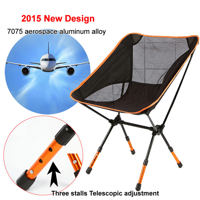 3 cores portátil dobrável Camping Stool cadeira de assento para pesca Festival Picnic BBQ praia com saco vermelho / laranja / azul