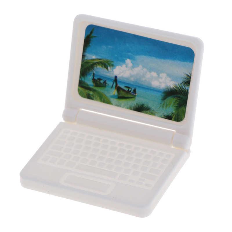 دمية الإبداعية مصغرة أثاث الكمبيوتر الحديثة للأثاث ألعاب أطفال للدمى الكمبيوتر المحمول لون عشوائي